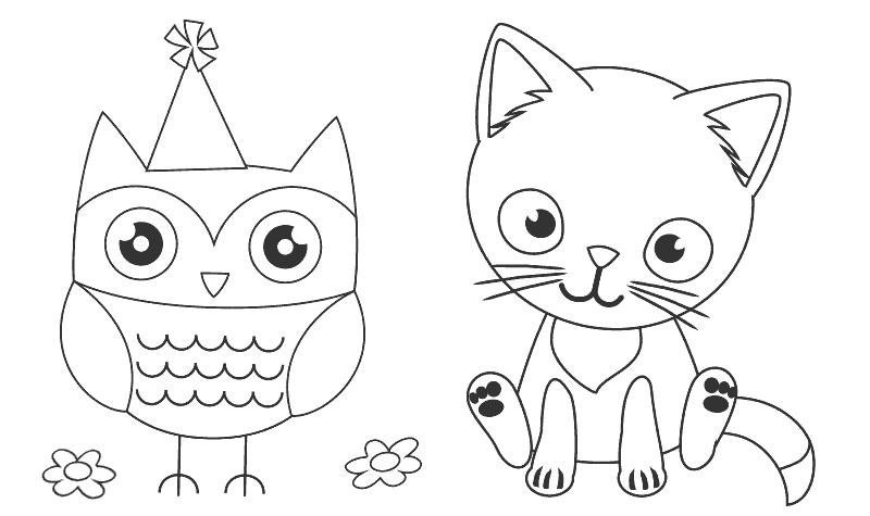 Juegos con dibujos para colorear animales