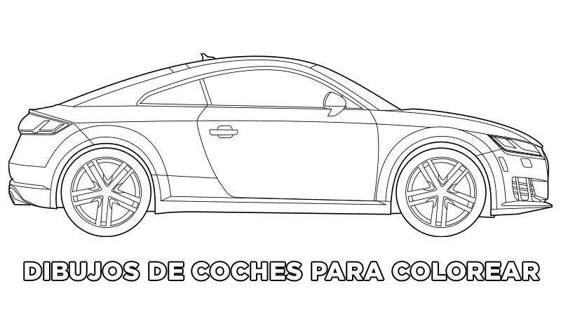 Dibujos de coches para colorear, autos para colorear, carros para colorear