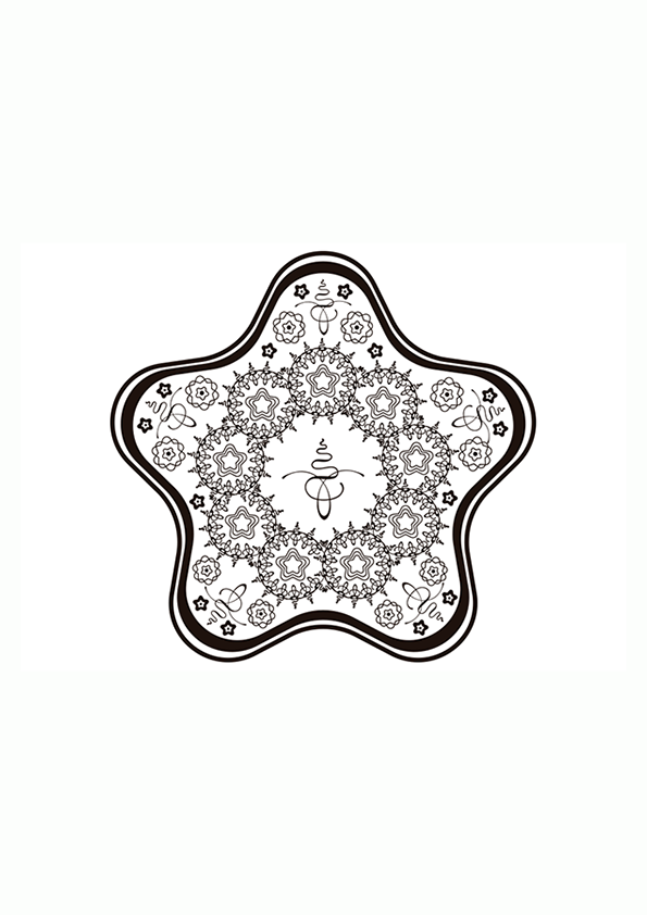 Dibujo para colorear mandala de una ilustración de formas geométricas