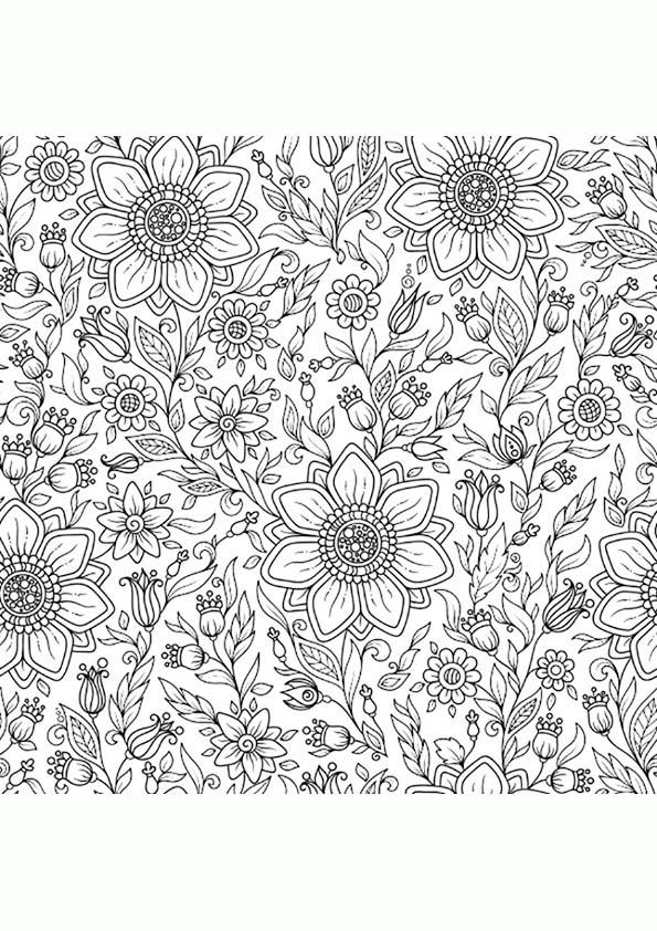 Dibujo Para Colorear Mandala Ilustración De Flores Margaritas