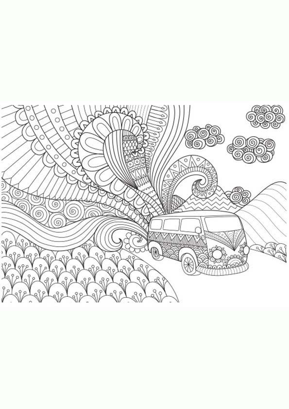 Dibujo para colorear mandalas número 22
