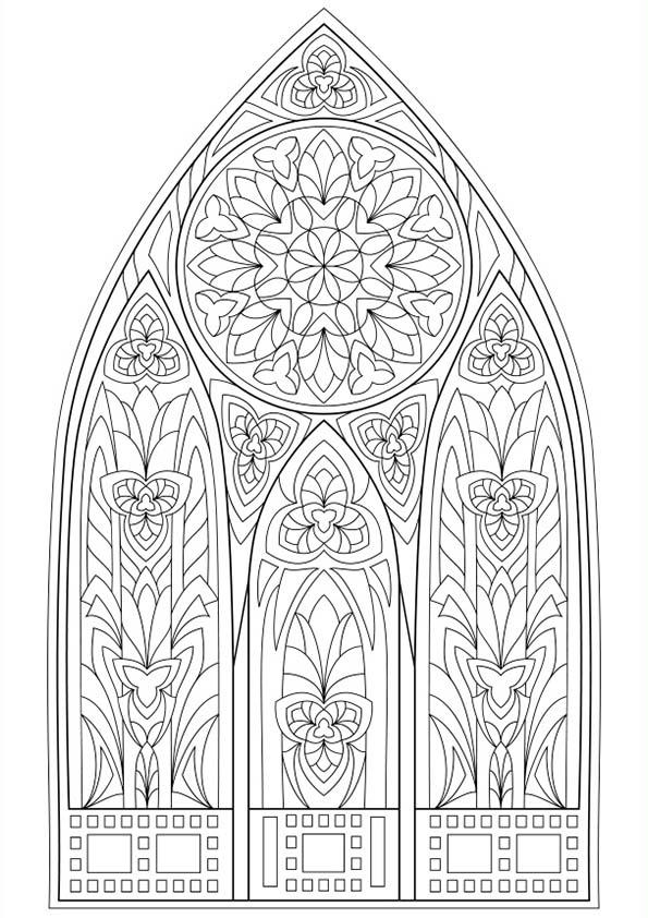 Dibujo Para Colorear Mandala Ilustración Silueta De Una Hermosa