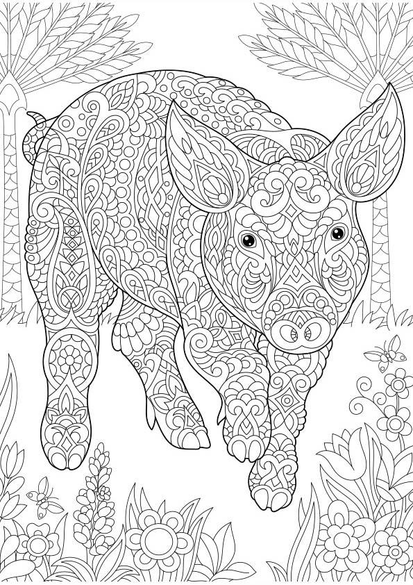 Volwassen Kleurplaten Harry Potter Dibujo Para Colorear Mandala Ilustraci 243 N Silueta Cerdo Con