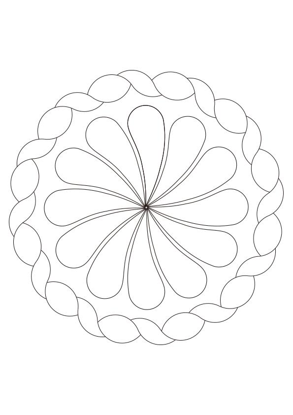 Dibujo Para Colorear Mandala Nº 5