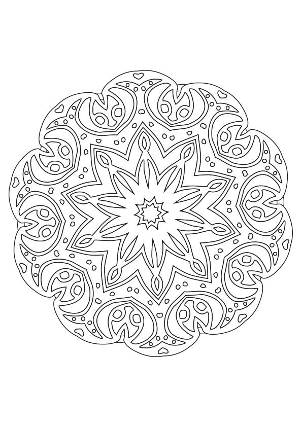 Dibujo Para Colorear Mandala Nº 6