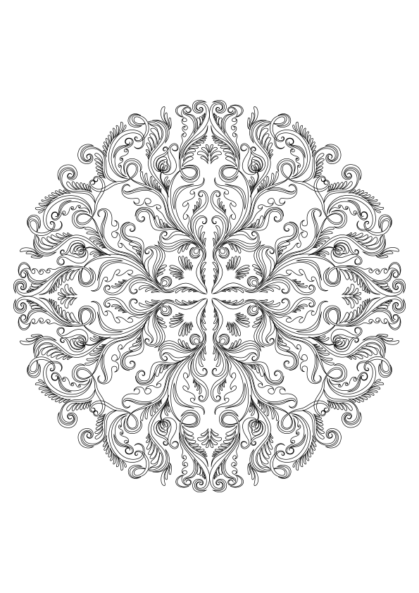 Image Result For Free Color Pages Mandalas Flowers