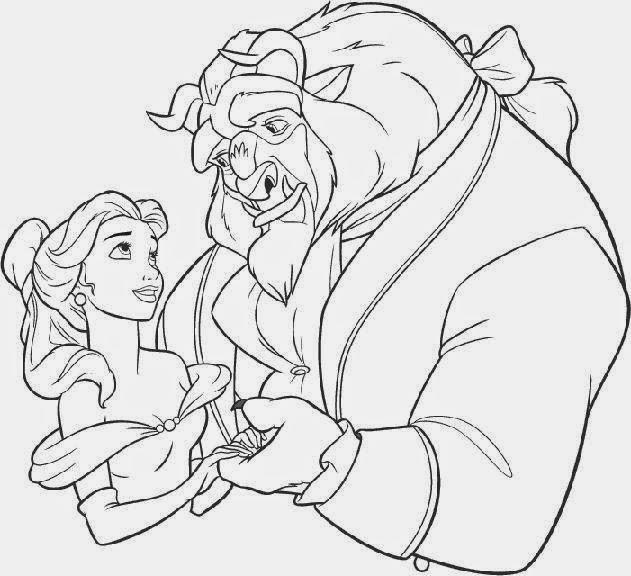 Dibujo clásico de Disney, de La Bella y la Bestia