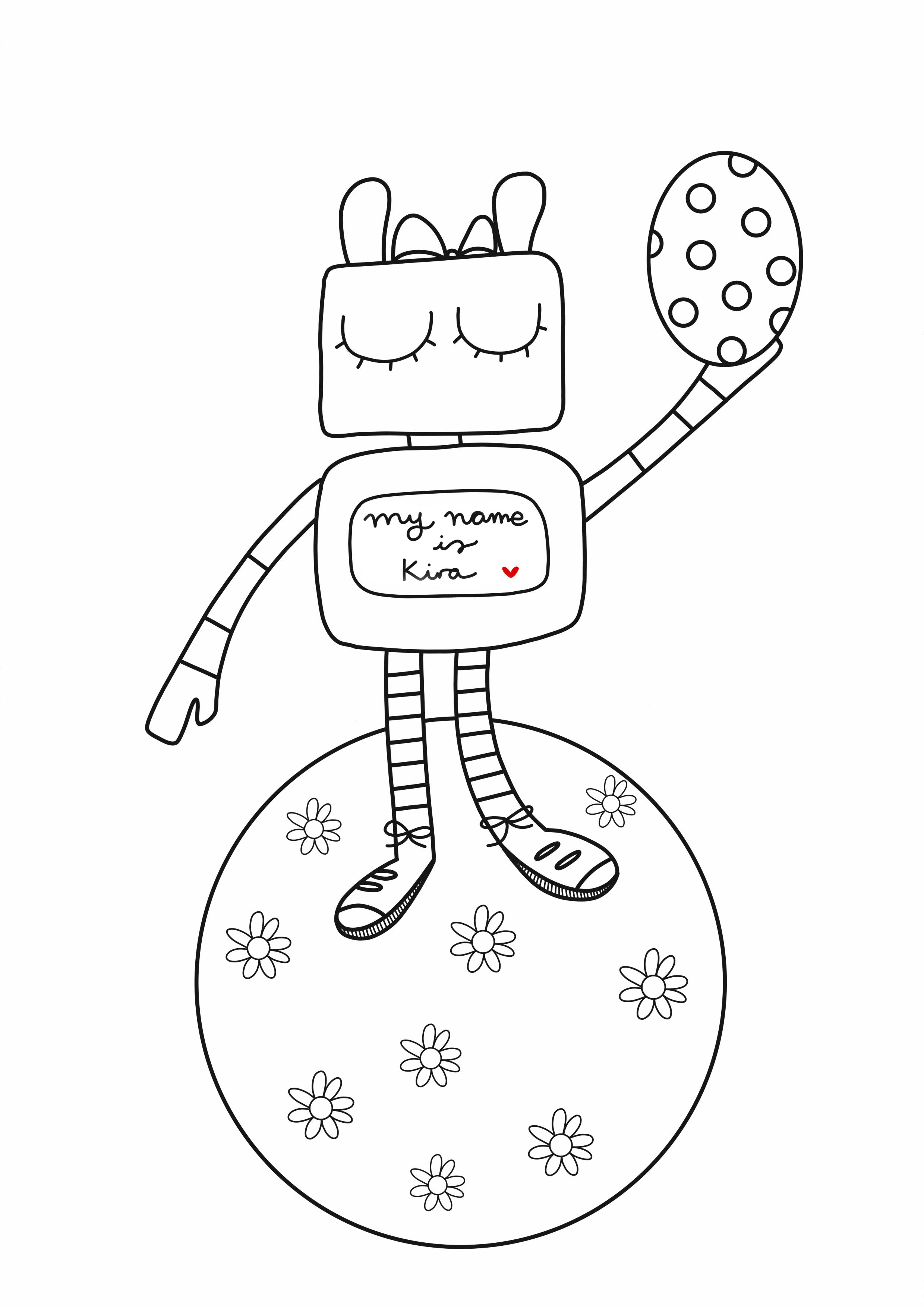 Dibujo del robot Kira para colorear
