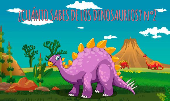 Juego de preguntas ¿Cuánto sabes de los dinosaurios? nº 2