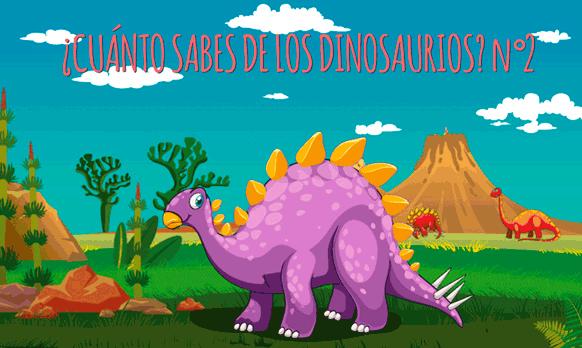 Juego de preguntas y respuestas ¿Cuánto sabes sobre los dinosaurios? nº2