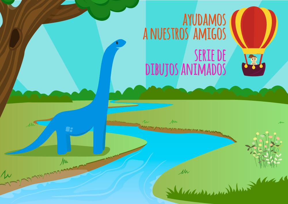 Serie de dibujos animados infantiles 'Ayudamos a nuestros amigos'