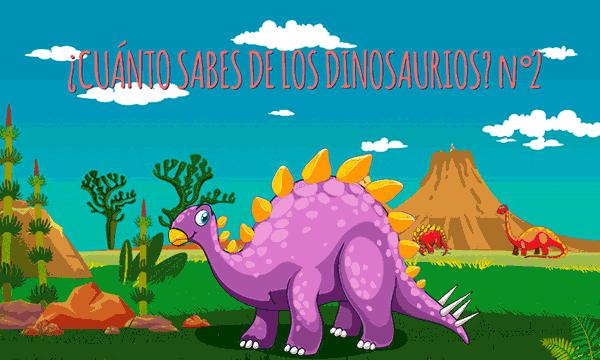 Juego de preguntas interactivo ¿Cuánto sabes de los dinosaurios? nº2
