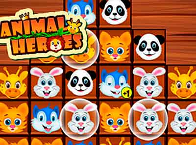 Juego de animales de tipo puzzle Animal Heroes