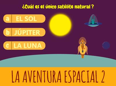 Juego de preguntas y respuestas La aventura espacial con Fusi
