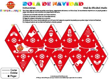 Recortable Bola de Navidad para decorar el árbol de Navidad EPDLD 2