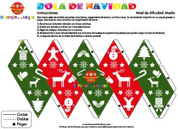 Recortable Bola de Navidad para decorar el árbol de Navidad EPDLD 3